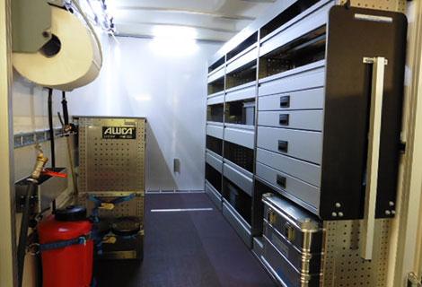 Nordsysteme - Aluca-Fahrzeugeinrichtung-Anhänger,werkstattwagen