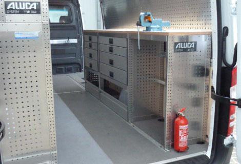 Nordsysteme - Aluca-Fahrzeugeinrichtung-Mercedes-Sprinter-Pannenhilfsfahrzeug, werkstattwagen