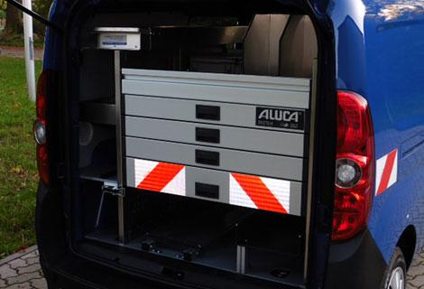 Nordsysteme - Aluca-Fahrzeugeinrichtung-Opel-Combo,werkstattwagen