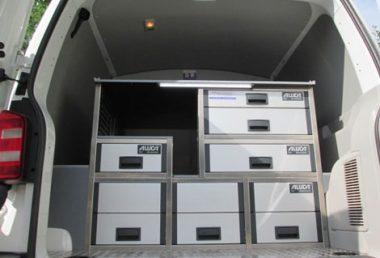 Nordsysteme - Aluca-Fahrzeugeinrichtung-T6-Heckausbau, werkstattwagen