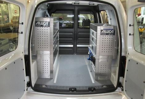 Nordsysteme - Aluca-Fahrzeugeinrichtung-VW-Caddy, werkstattwagen