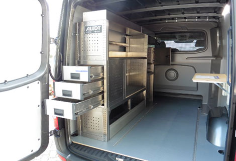 Nordsysteme - Aluca-Fahrzeugeinrichtung-VW-Crafter,werkstattwagen