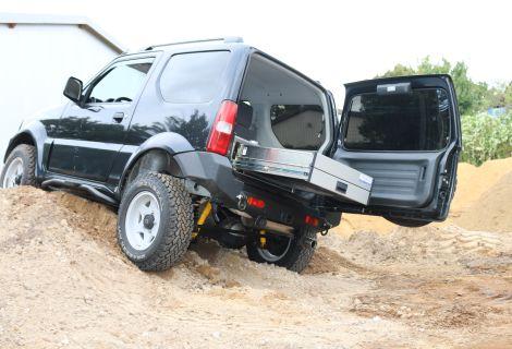 Nordsysteme - Aluca-Fahrzeugeinrichtung, Suzuki Jimny Heckausbau, Werkstattwagen