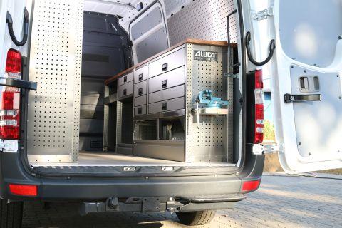 Nordsysteme -Aluca-Fahrzeugeinrichtung, Mercedes Sprinter Fahrzeugeinrichtung für mobilen Hydraulikservice, Werkstattwagen
