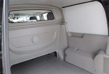 Nordsysteme - Snoeks Doppelkabine VW T5 T6, Ansicht Laderaum