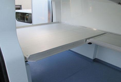 Nordsysteme Kühlfahrzeuge, Einlegeböden herausnehmbar aus Aluminium