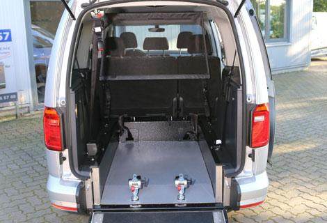 Nordsysteme Rollstuhltransport, Rollstuhltransportsystem, Heckausschnitt als Flachboden