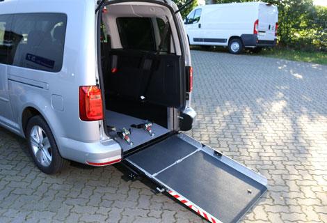 Nordsysteme Rollstuhltransport, Rollstuhltransportsystem, durchklappbare Rampe