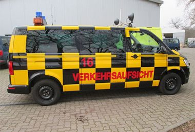 "Nordsysteme - Follow-me-Fahrzeug VW T5 ""Verkehrsaufsicht"" mit Hänsch DBS 2000, Sonderfahrzeuge"