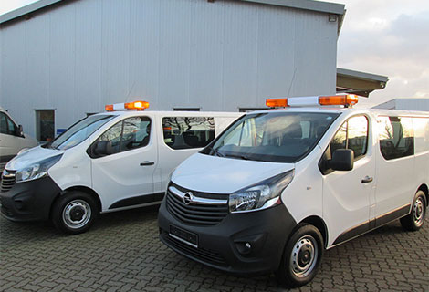 Nordsysteme - Sonderfahrzeuge, Warnbalken auf Opel Vivaro