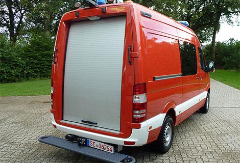 Nordsysteme - Sonderfahrzeuge, Rolladenportal / Rolladen für Mercedes Sprinter