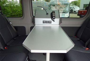 Nordsysteme - Sonderfahrzeuge, Besprechungstisch / Funktisch, VW Crafter, Mercedes Sprinter, Feuerwehr