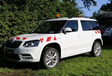 Nordsysteme - Sonderfahrzeuge, Bauleiterfahrzeug Skoda Yeti mit Rundumkennleuchten