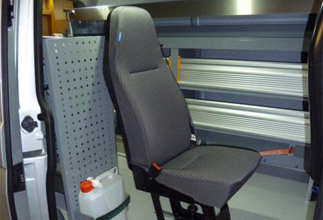 Nordsysteme - Sonderfahrzeuge, Zusatzsitz VW T5, T6