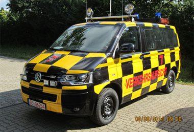 "Nordsysteme - Follow-me-Fahrzeug VW T6 ""Verkehrsaufsicht"" mit Hänsch DBS 2000, Sonderfahrzeuge"