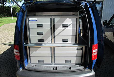 Nordsysteme - Sonderfahrzeug, Tierarztfahrzeug VW Caddy mit Heckausbau