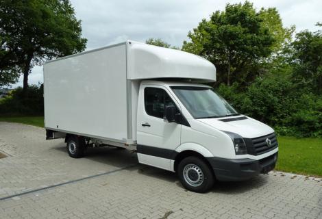Nordsysteme - Spezialaufbauten, Kofferaufbau mit Alkoven, VW Crafter, MB Sprinter